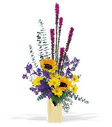 Vibrant fresh flower arrangement